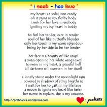 i seek her love